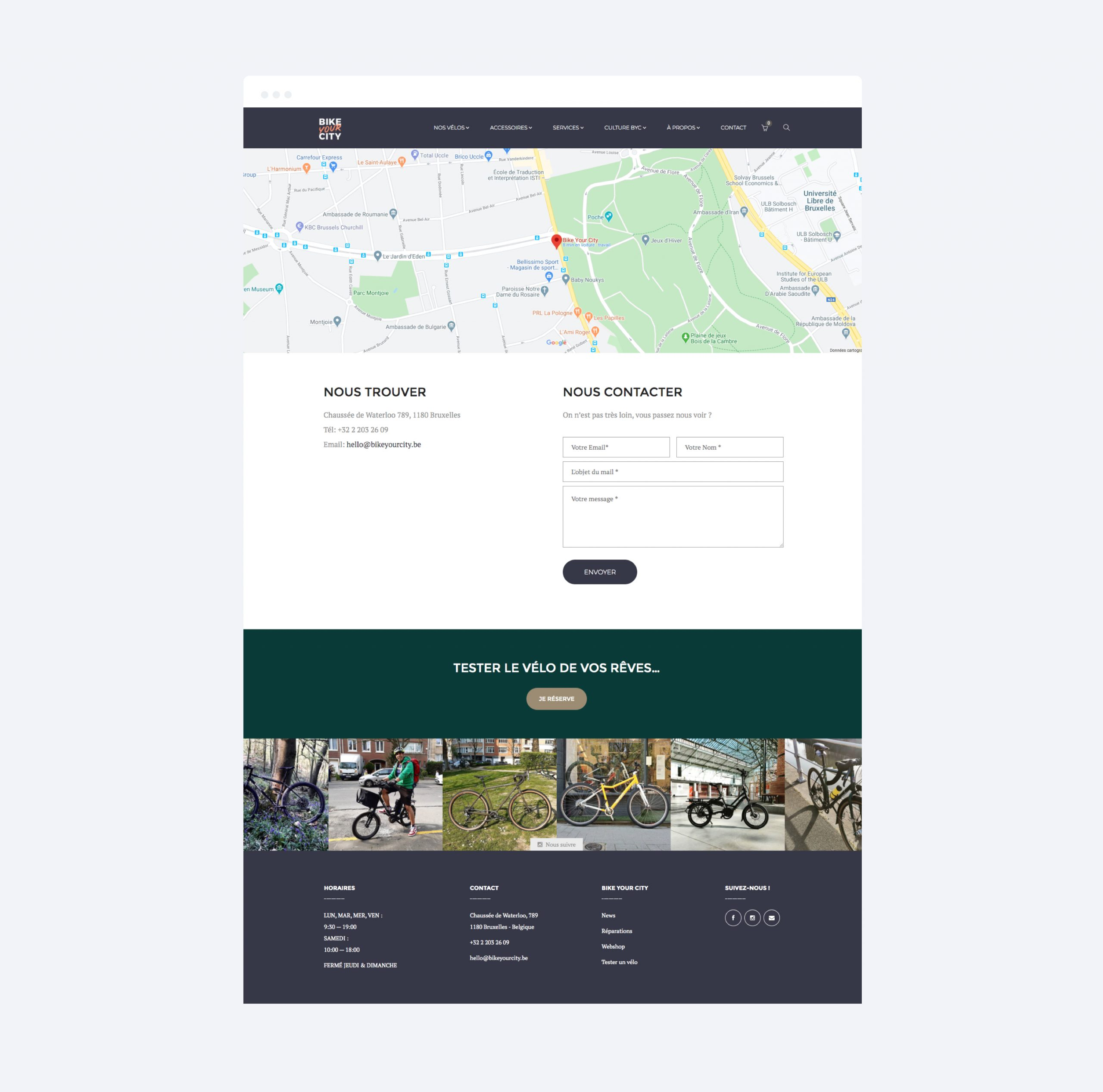 BIKE YOUR CITY - CONTACT